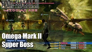 Final Fantasy XII The Zodiac Age - Omega Mark II Super Boss Fight PS4 Gameplay. Together with Yiazmat the hardest Super Boss in the Game (Trial Mode excluded). If you see your copyright infringed by this Video, tell me and I will take down the video immediately. No need to strike my channelSupport: https://youtube.streamlabs.com/meloo#/or https://www.patreon.com/Meloo