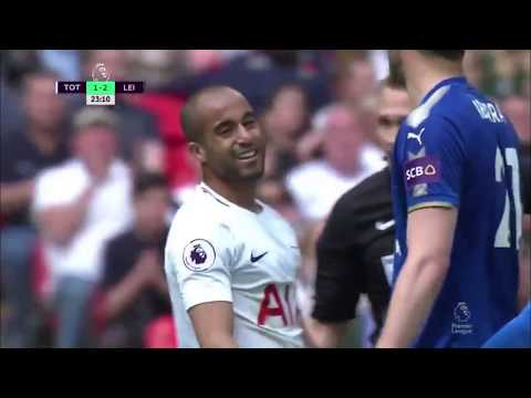 Lucas Moura vs Leicester 17/18 (H) (видео)