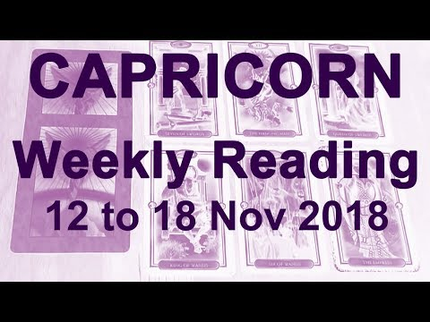CAPRICORN WEEKLY READING - NOVEMBER 12 TO 18 - REMEMBER WHO YOU ARE; YOU'RE PROTECTED; TAKE ACTION!