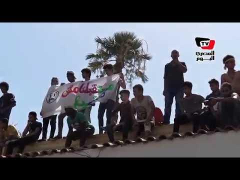 طلبة الثانوية العامة من فوق أسوار وزارة «التعليم»: «مستقبلنا مش هيضيع»