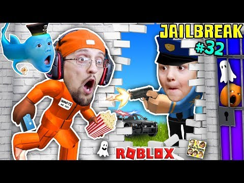 ROBLOX JAILBREAK! FGTEEV Escapes Jail @ 3am! Corrupt Cop Chase & Baby Shawn! Best Prison Ever (#32)
