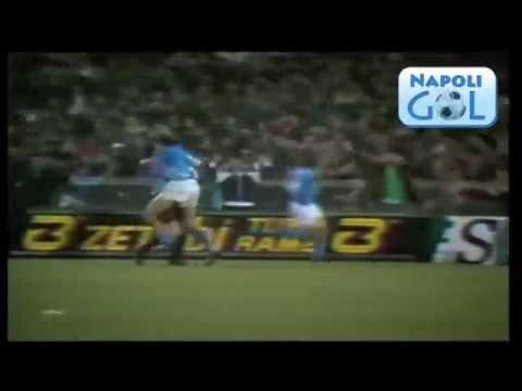 napoli juventus - 3 a 0 - ritorno quarti di finale coppa uefa 1989