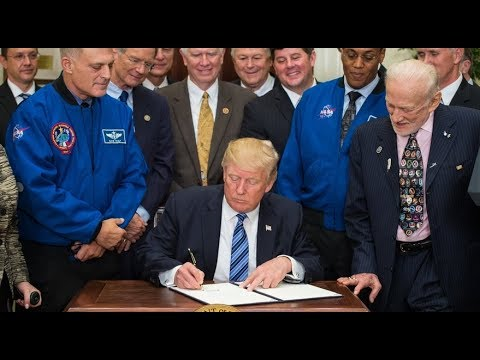 🔴LIVE: President Trump Signs Space Policy Directive to Send Humans Back to Moon 12/11/17