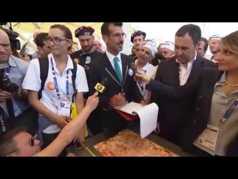 la pizza più lunga del mondo! expo 2015