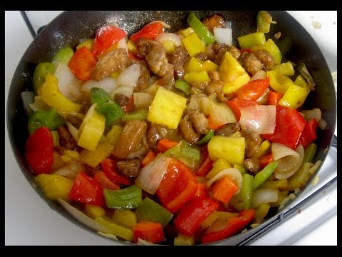 Como hacer pollo agridulce - sweet and sour chicken