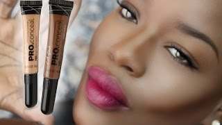How to Highlight and Contour DARK SKIN w/ LA Girl Concealer - YouTube