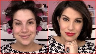 GET READY WITH ME! Old Hollywood Holiday Makeup by Beauty Broadcast