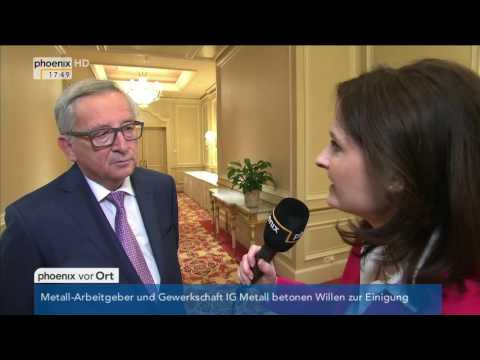EU-Türkei-Abkommen: Jean-Claude Juncker im Interview am 12.05.2016