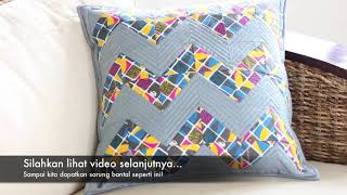 Video Part 1/4. Menjahit Sarung Bantal (Pola Chevron) MP3, 3GP, MP4, WEBM, AVI, FLV Juli 2018