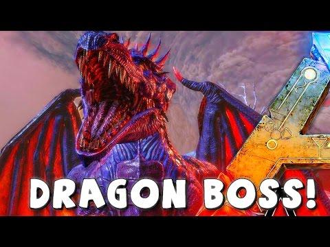 ARK Survival Evolved Dragon Boss Arena | VS LEVEL 750 GIGA  | Boss Kill | Gameplay ( Dragon Drops )