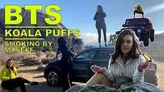 BEHIND THE SCENES: KOALA PUFFS SMOKING BY MYSELF MUSIC VIDEO!!! by HighRise TV