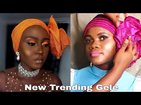 BEGINNERS / HOW TO TIE SIMPLEST TRENDING GELE (ROSE STYLE) FOR | HOW TO TIE GELE | OCUBE GLAMOUR