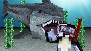 Minecraft | FISHING CHALLENGE - Sharks Are Coming! (JAWS, SHARKS, BOATS)