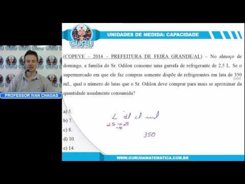 0775 - COPEVE/UFAL - 2014 - PREF. DE FEIRA GRANDE - NÍVEL FUNDAMENTAL - UNIDADES DE MEDIDA