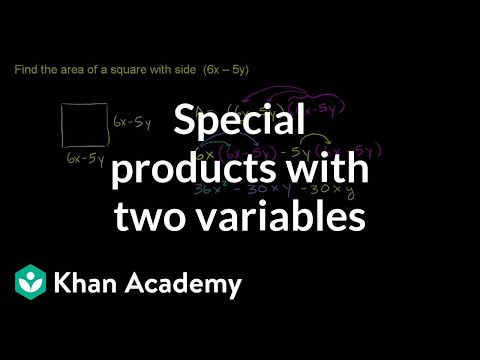 Special Products Of Binomials Two Variables Video Khan Academy