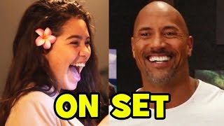 MOANA Behind The Scenes With The Cast (Movie B-Roll & Bloopers) - Dwayne Johnson, Auli'i Cravalho
