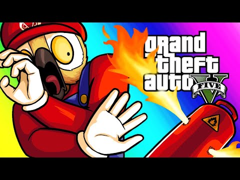 GTA5 Online Funny Moments - Donkey Kong Obstacle Course!_Legjobb videók: Játék