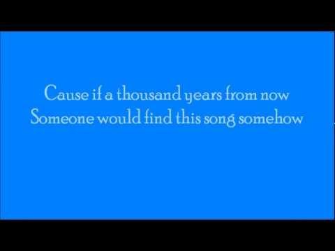 Ulrik Munther - Thousand Years lyrics