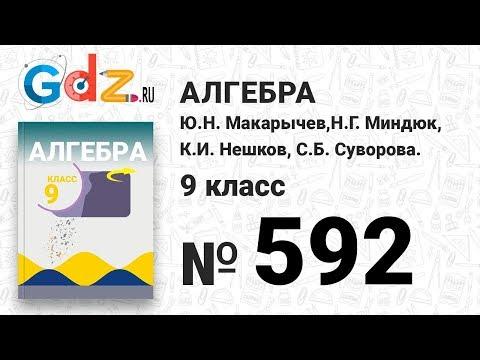 № 592 - Алгебра 9 класс Макарычев (видео)