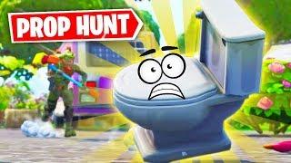 Se cacher en toilettes ?!? | Prop Hunt Fortnite