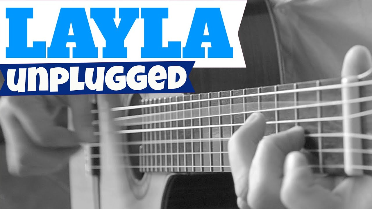 Eric Clapton – LAYLA (unplugged) TAB Acoustic Fingerstyle Guitar Solo Cover by Charlie Kager