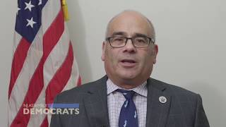 Assemblyman Reed Gusciora reacts to President Trump announcing via twitter that all transgender people will no longer be...