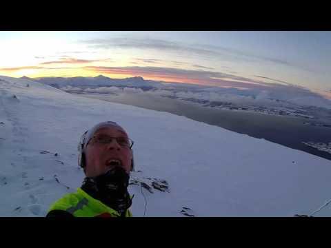 Mountain snow runnig