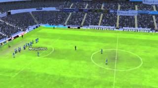 Gol de Marquinhos marcado aos 8 minutos do jogo Bahia x Ava� no Football Manager 2015.