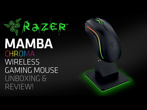 Razer Mamba Chroma Wireless Gaming Mouse Unboxing & Review!