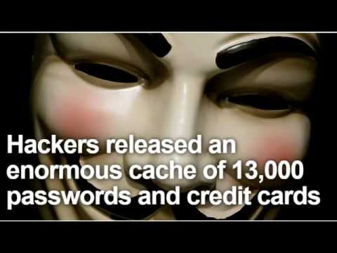 info - http://www.undergroundworldnews.com A gang of internet hackers claiming an affiliation with shadowy anarchist group Anonymous is claiming it has leaked the details of more than 13000 users...