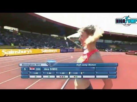 1.91 Simic Ana Diamond League Birmingham ( women high jump )