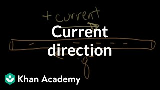 Current direction | Electrical engineering | Khan Academy