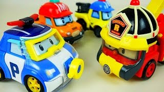 Video Water Poli Robocar Poli car toys marine and rescue fire truck play MP3, 3GP, MP4, WEBM, AVI, FLV Juli 2018