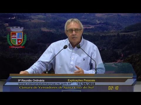9ª Reunião Ordinária - 16/04/2018