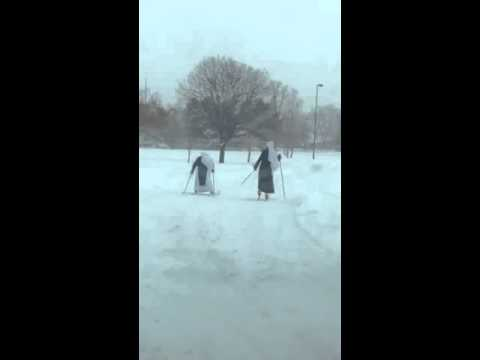 Only in Denver! Cross-Country Skiing Nuns!