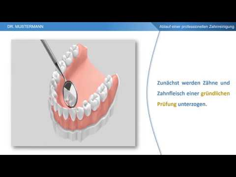 Ablauf der Behandlung - Profesionelle Zahnreinigung