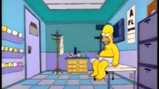 Homer Simpson Tasty Fish (stages of death / change) clip