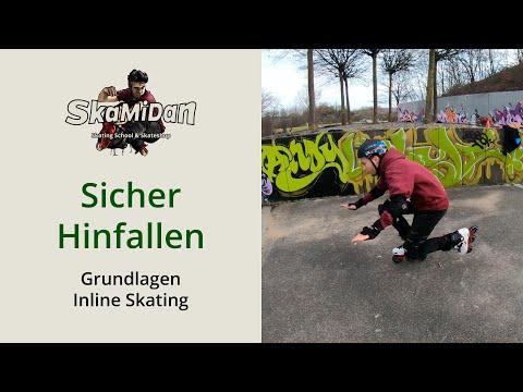 Richtig fallen lernen mit Inlineskates – Ich nehme dir deine Angst! Inline Skating Basics #02
