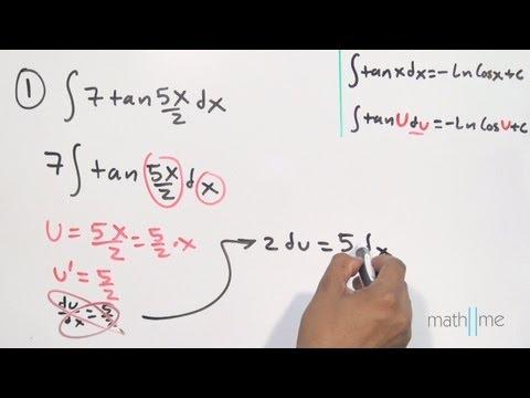 Integral tangens x