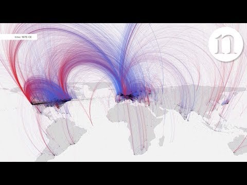 Charting culture showing birthplaces and deaths for over 120 000
