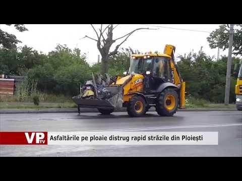 Asfaltările pe ploaie distrug rapid străzile din Ploiești