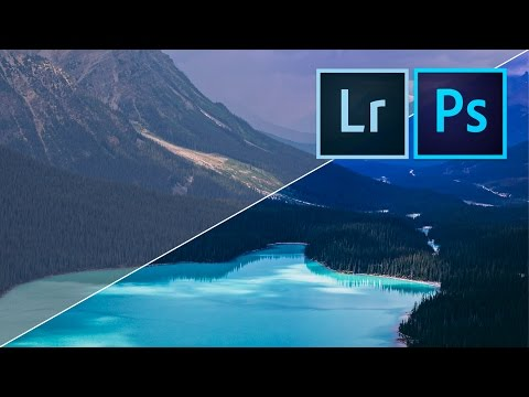 How to edit AMAZING LANDSCAPE PHOTOS with Adobe Lightroom & Photoshop (видео)