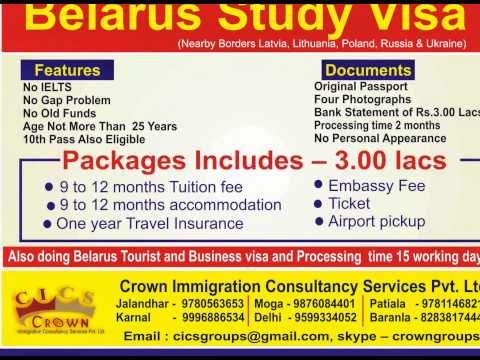 Crown Immigration YouTube Channel Belarus tourist visa
