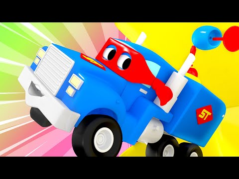 The mini Super Truck - Carl the Super Truck - Car City ! Cars and Trucks Cartoon for kids