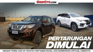 Video Nissan Terra VL 4x2 VS Toyota Fortuner VRZ 4x2 TRD Sportivo | Komparasi Virtual | GridOto MP3, 3GP, MP4, WEBM, AVI, FLV Maret 2019