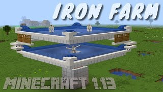 7. How to Make an Iron Farm in Minecraft Update Aquatic 1.13 | Updated Iron Farm Tutorial by Avomance
