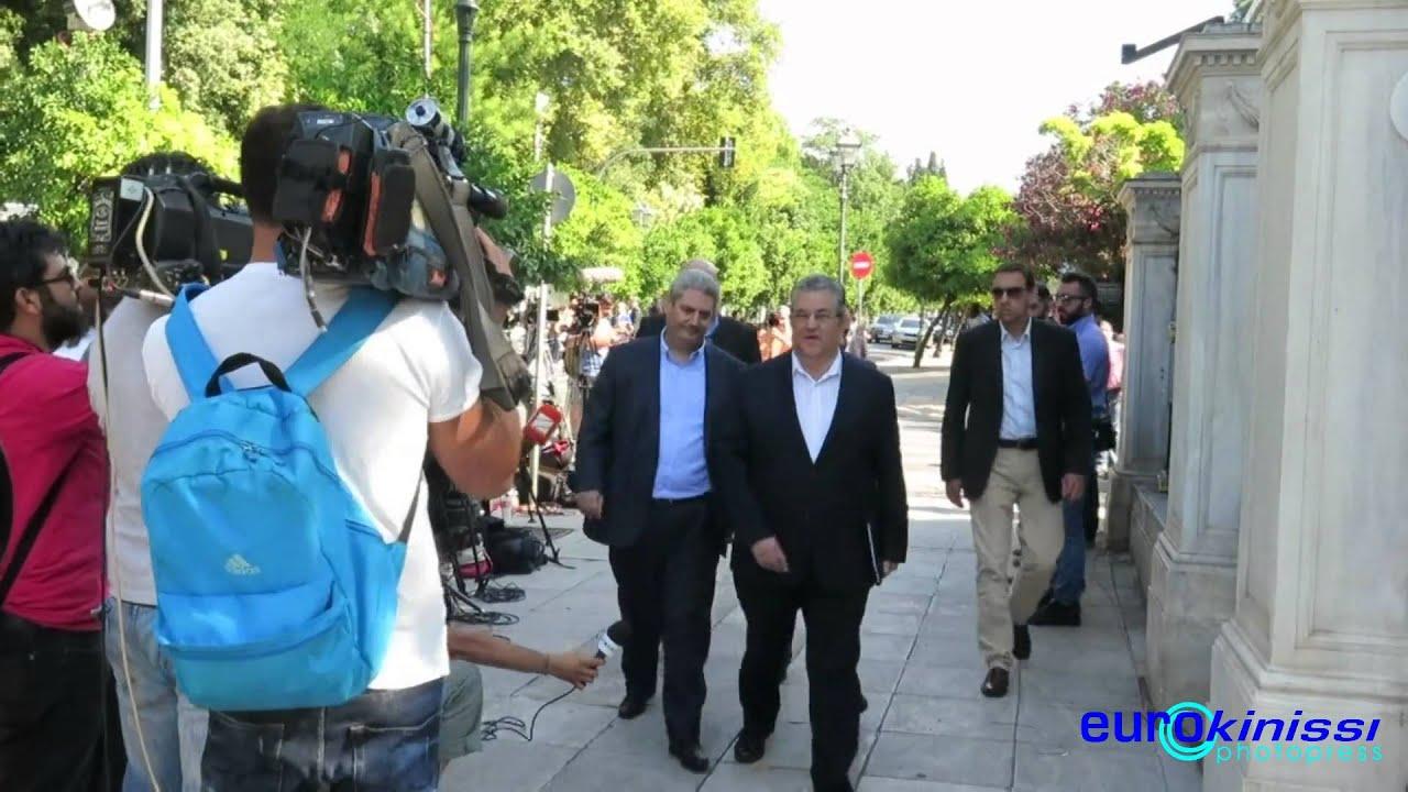 Προσελεύσεις Πρωθυπουργού και πολιτικών αρχηγών στο Προεδρικό Μέγαρο