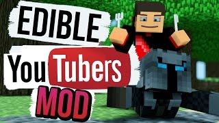 Minecraft: EAT YOUTUBERS MOD (POPULARMMOS, THEDIAMONDMINECART, SSUNDEE and More) Mod Showcase
