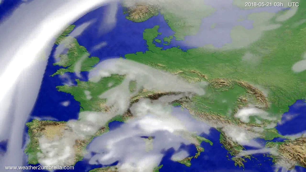 Cloud forecast Europe 2018-05-18