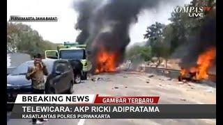 [Update] Kecelakaan Beruntun 21 Mobil di Tol Cipularang